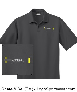 Carlile Architects men's golf polo in grey Design Zoom